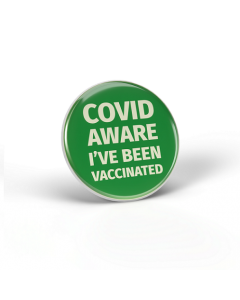 Covid Aware - I've been vaccinated - Green (Pack of 10)