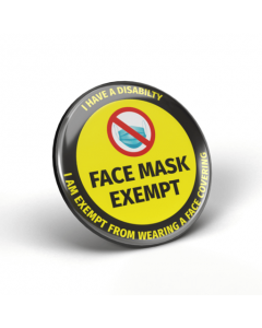 Face Mask Exempt - I Have a Disability Badges (Pack of 2)