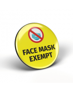 Face Mask Exempt Badges (Pack of 2)