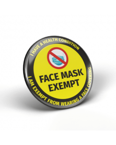 Face Mask Exempt - I Have a Health Condition Badges (Pack of 2)