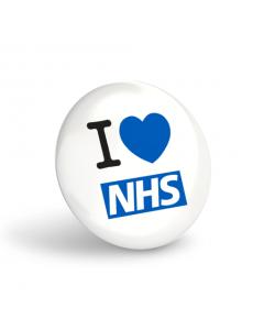 I Love NHS Button Badges (Pack of 10)