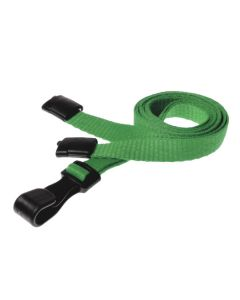 Plain Light Green Lanyards with Plastic J Clip (Pack of 10)