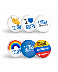Mixed Pack Thank You NHS Badges (Pack of 12 Badges)