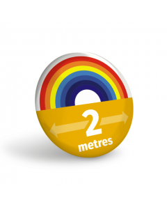 Rainbow 2m Social Distancing Badge (Pack of 10)