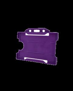 Rigid Card Holder, Purple (Pack of 10)