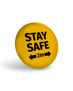Stay Safe 2m Badge (Pack of 10) Amber