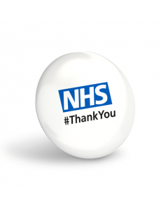 NHS #ThankYou White Button Badges (Pack of 10)