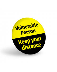Vulnerable Person Badge (Pack of 10) Yellow
