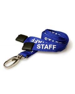 Royal Blue Staff Lanyards with Lobster Clip (Pack of 10)