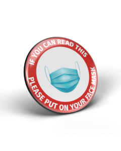 If you can read this, please put on your face mask badge (Pack of 2)