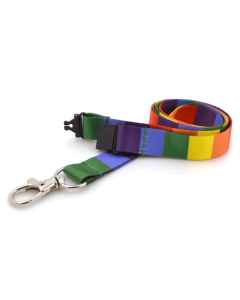 Rainbow Lanyards with Metal Trigger Clip (Pack of 10)