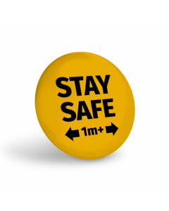 Stay Safe 1+ Metre Badge (Pack of 10) Amber