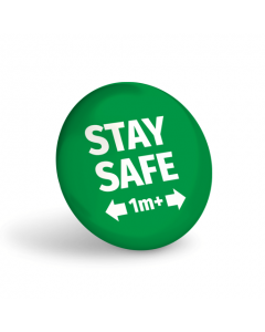 Stay Safe 1+ Metre Badge (Pack of 10) Green