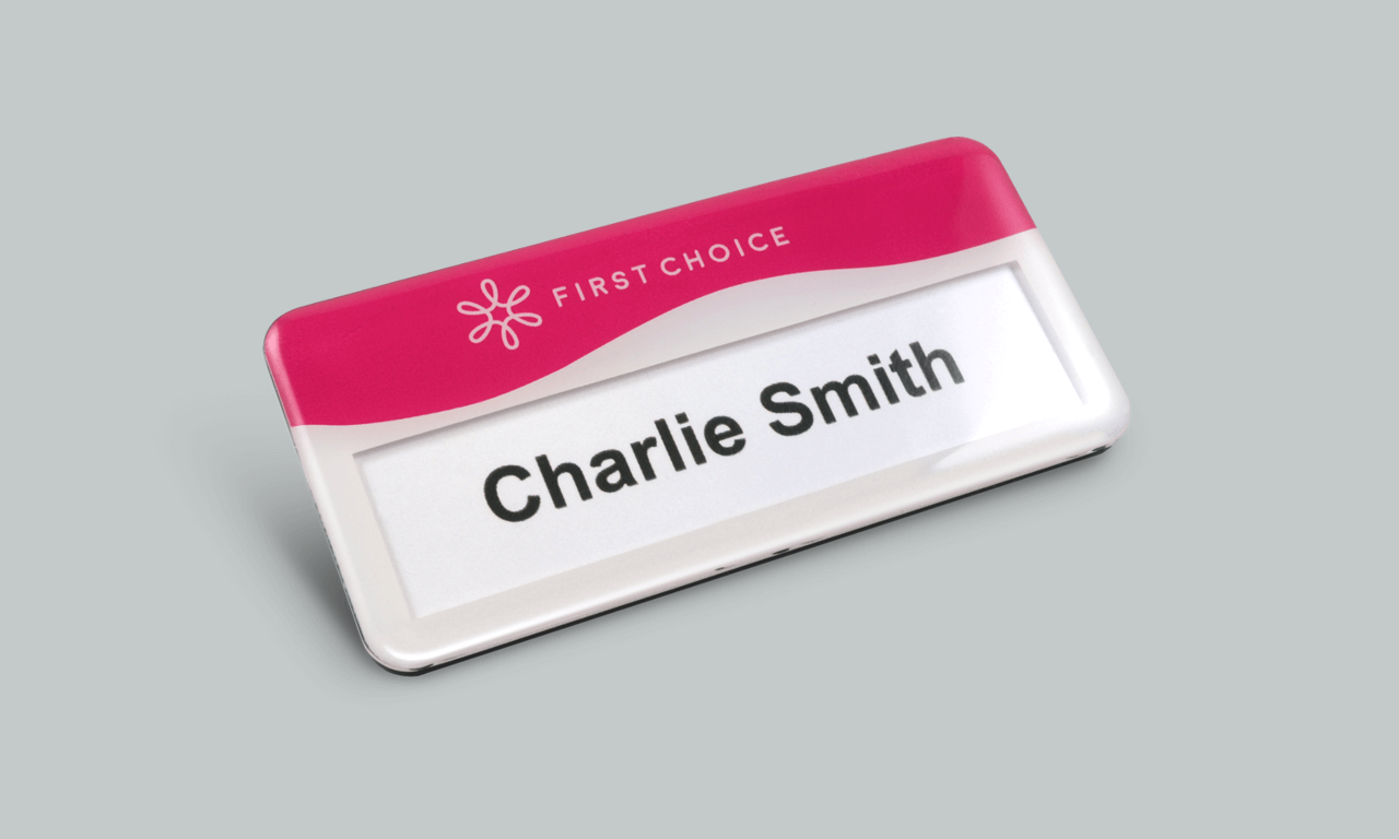 Premium Instabadge reusable name badge