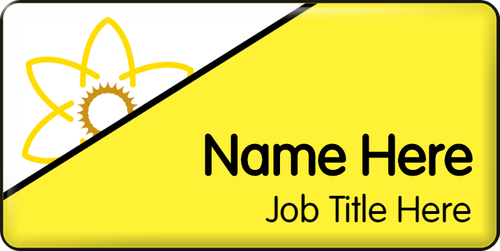 Dementia Friendly Name Badge - Yellow