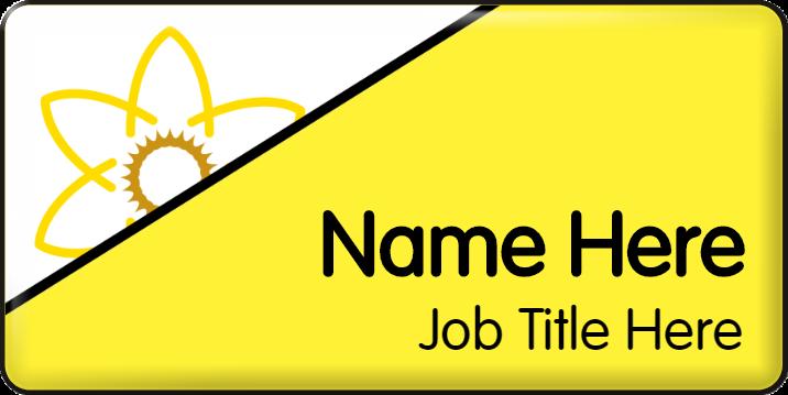 Dementia Friendly Name Badge - Yellow