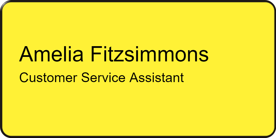 Name and job role